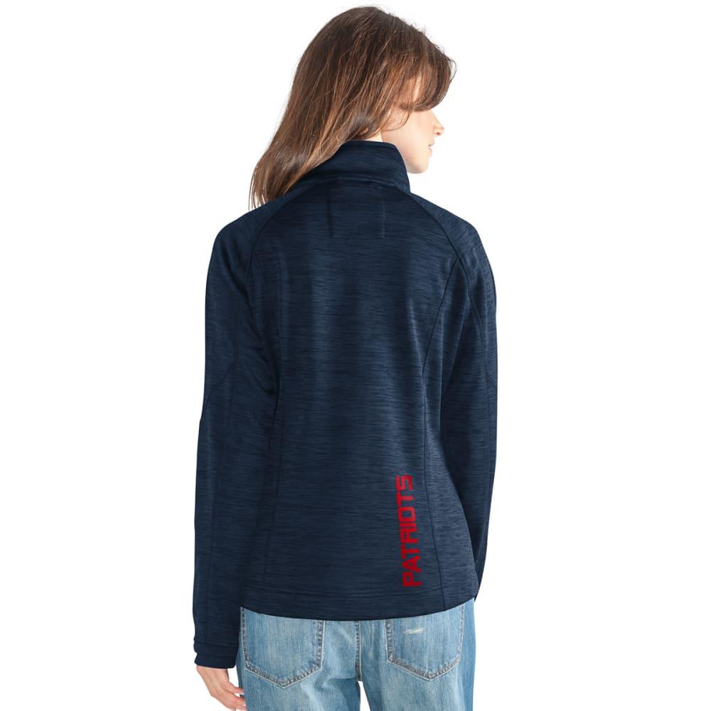 NEW ENGLAND PATRIOTS Women's Hand Off Space-Dye Microfleece Full-Zip Jacket - NAVY