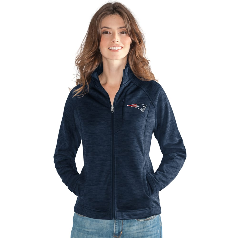 NEW ENGLAND PATRIOTS Women's Hand Off Space-Dye Microfleece Full-Zip Jacket M