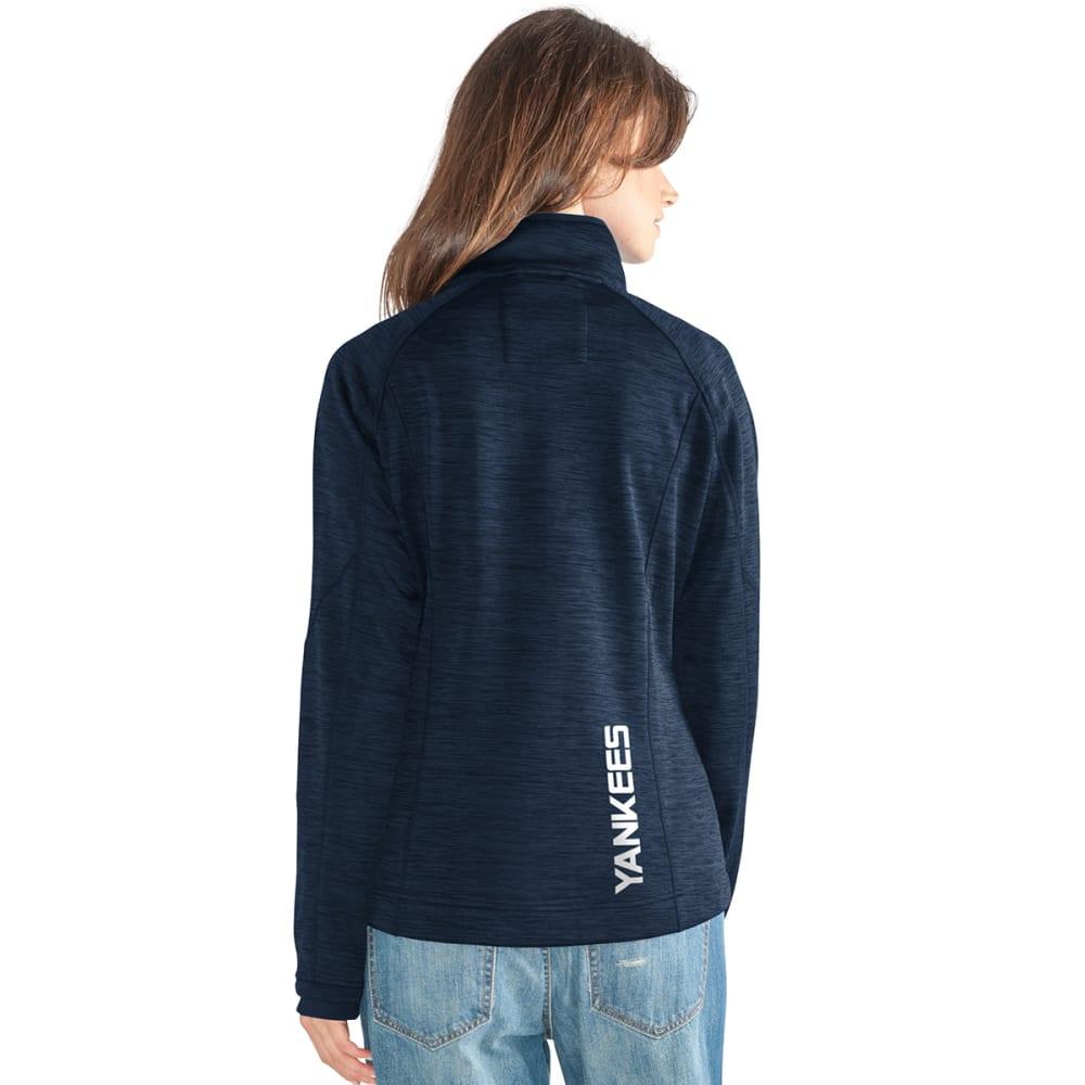 NEW YORK YANKEES Women's Hand Off Space-Dye Microfleece Full-Zip Jacket - NAVY