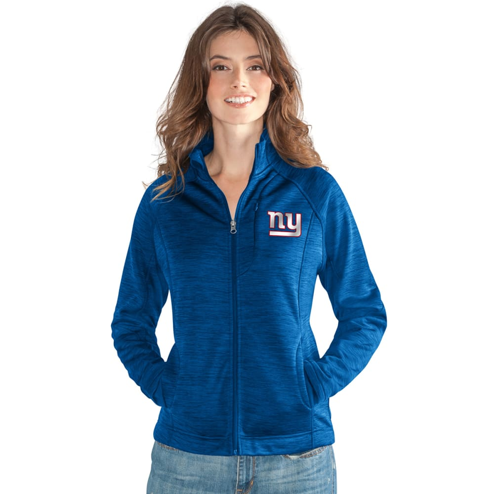 NEW YORK GIANTS Women's Hand Off Space-Dye Microfleece Full-Zip Jacket - ROYAL BLUE