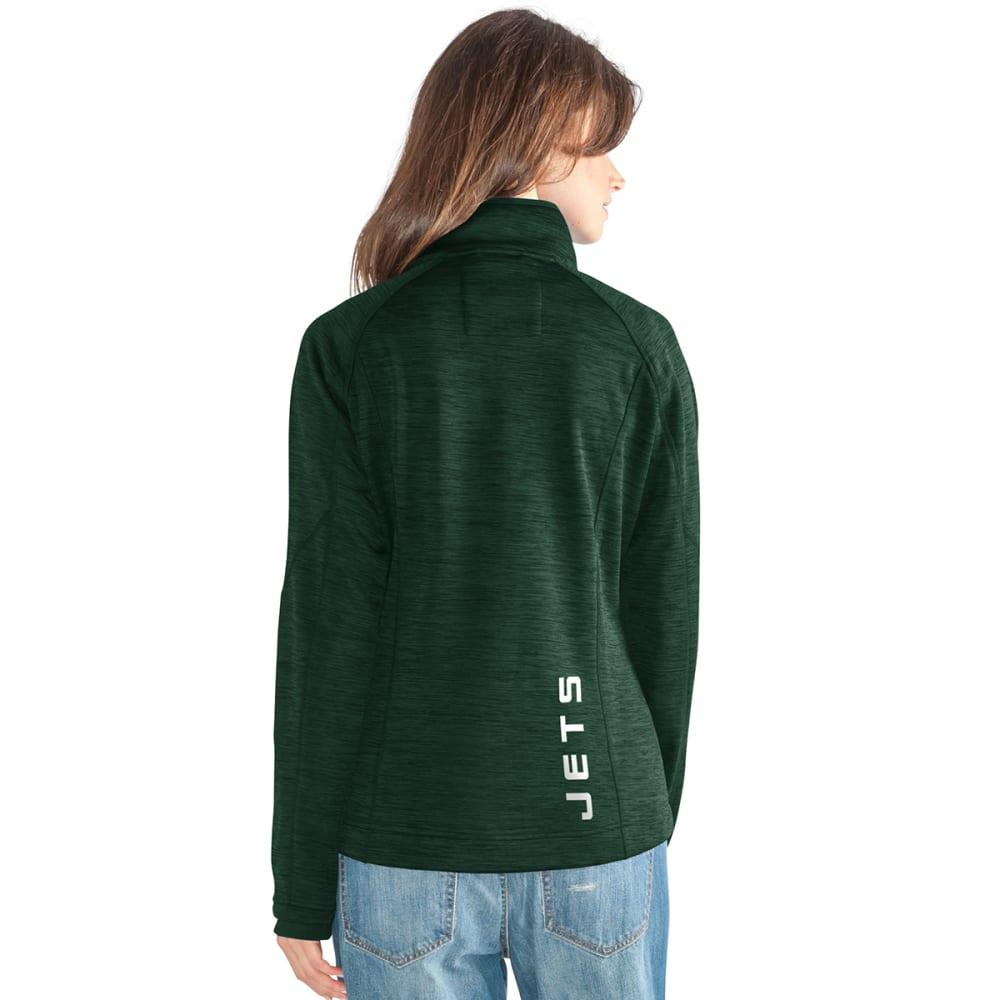 NEW YORK JETS Women's Hand Off Space-Dye Microfleece Full-Zip Jacket - GREEN