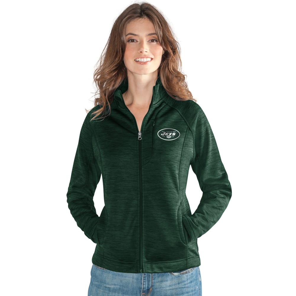 NEW YORK JETS Women's Hand Off Space-Dye Microfleece Full-Zip Jacket - GREEN
