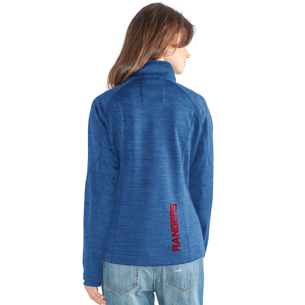 NEW YORK RANGERS Women's Hand Off Space-Dye Microfleece Full-Zip Jacket - ROYAL BLUE