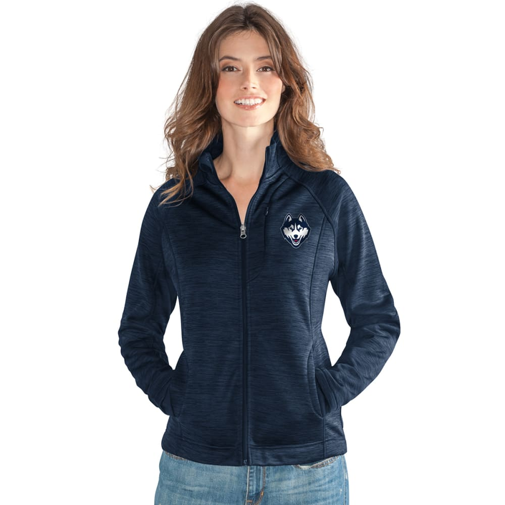 UCONN Women's Hand Off Space-Dye Microfleece Full-Zip Jacket - NAVY