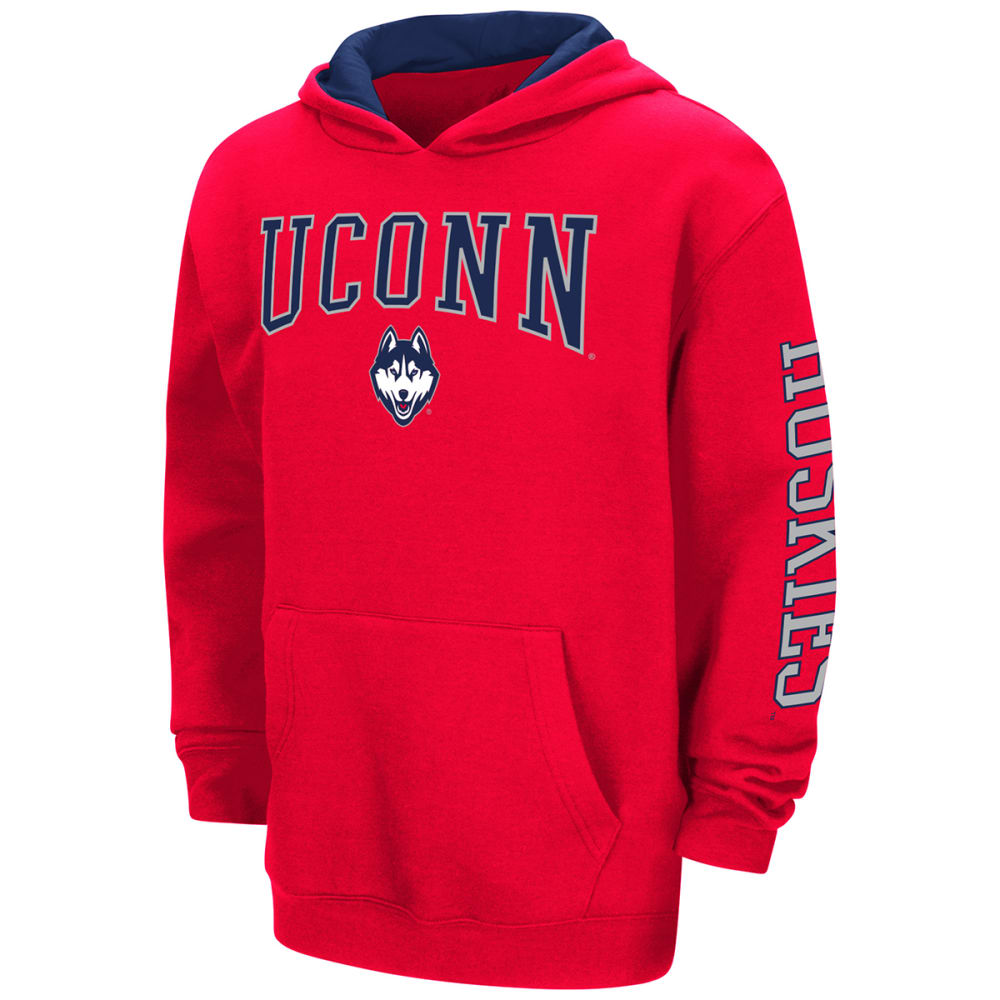Uconn Boys Zone Pullover Hoodie - Red, S