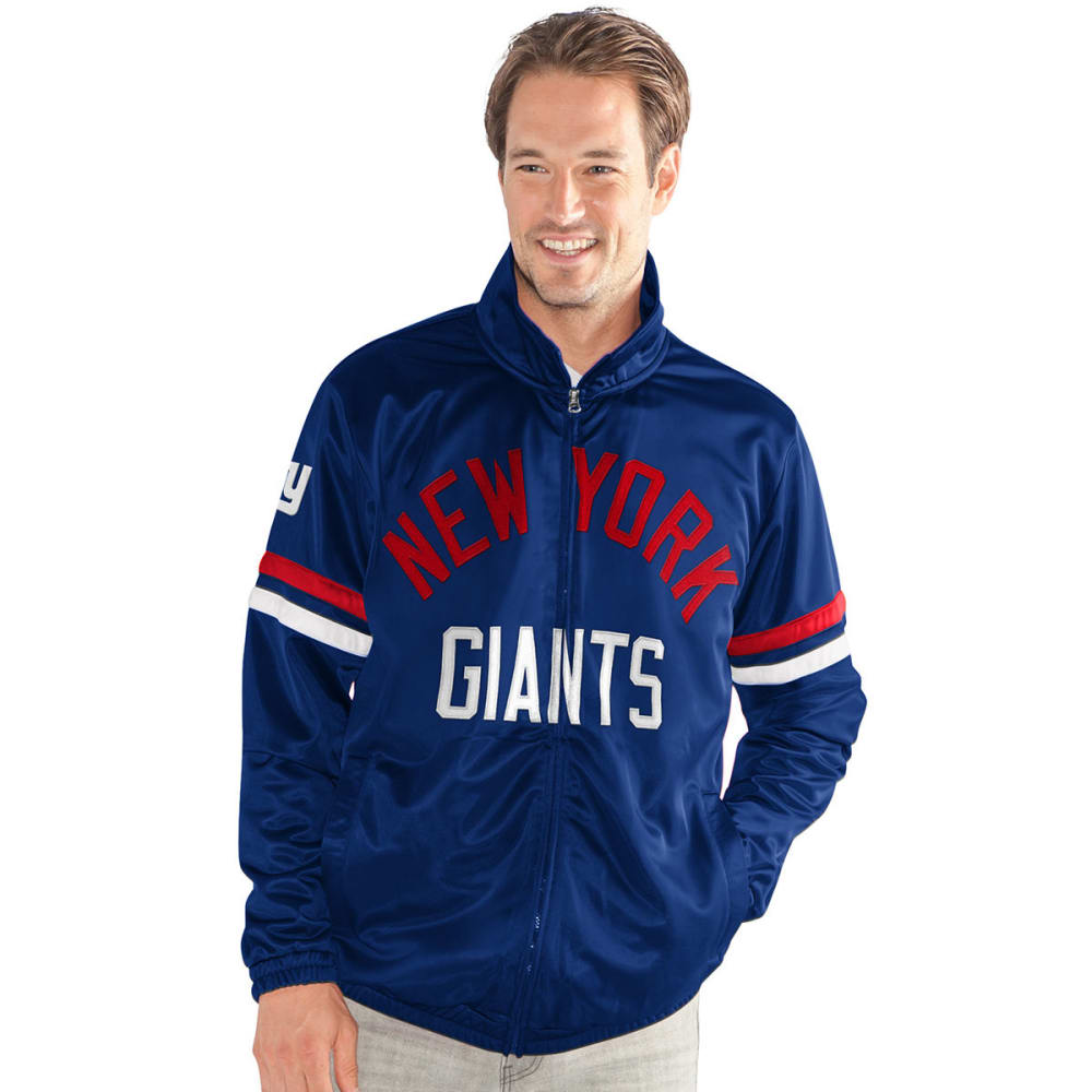 NEW YORK GIANTS Men's Veteran Track Jacket - ROYAL BLUE