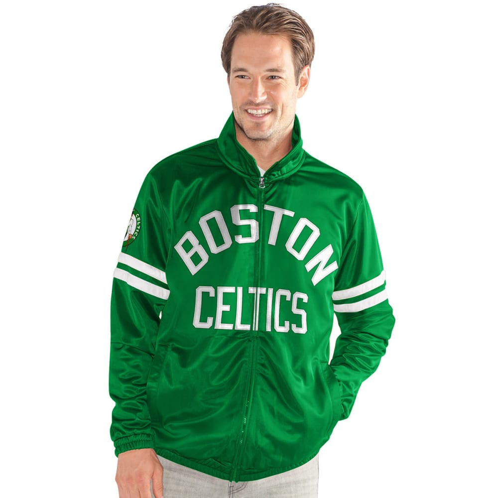 BOSTON CELTICS Men's Veteran Track Jacket - GREEN