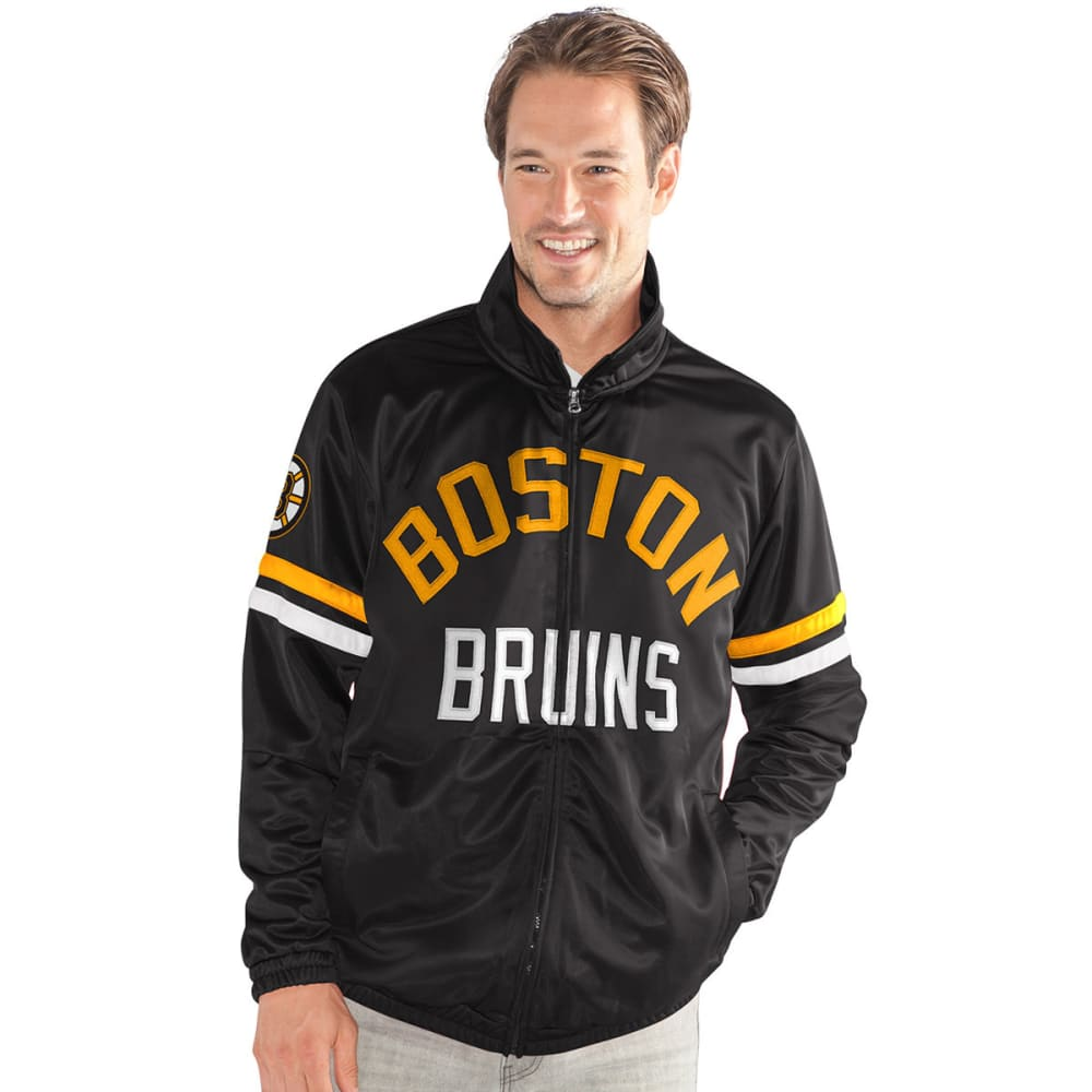 BOSTON BRUINS Men's Veteran Track Jacket - BLACK