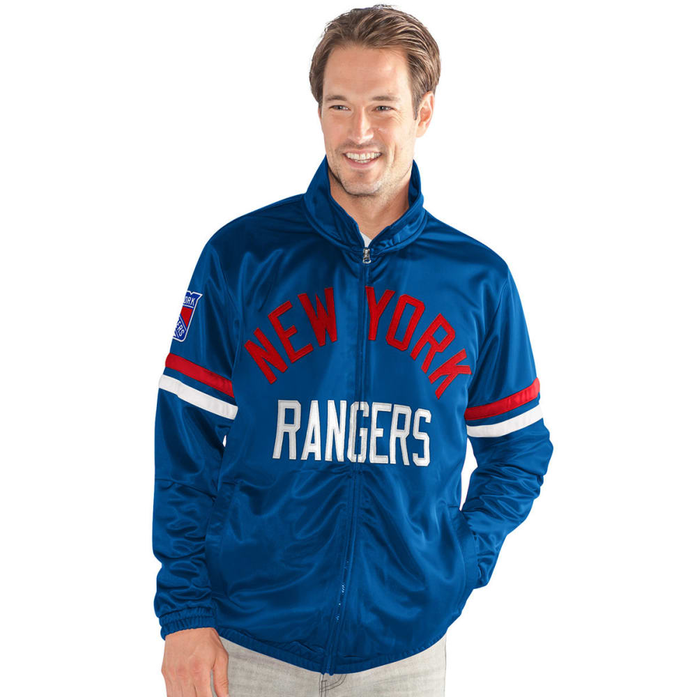 NEW YORK RANGERS Men's Veteran Track Jacket - ROYAL BLUE