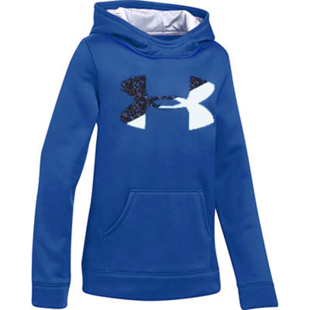 UNDER ARMOUR Girls' Armour Fleece Big Logo Hoodie S