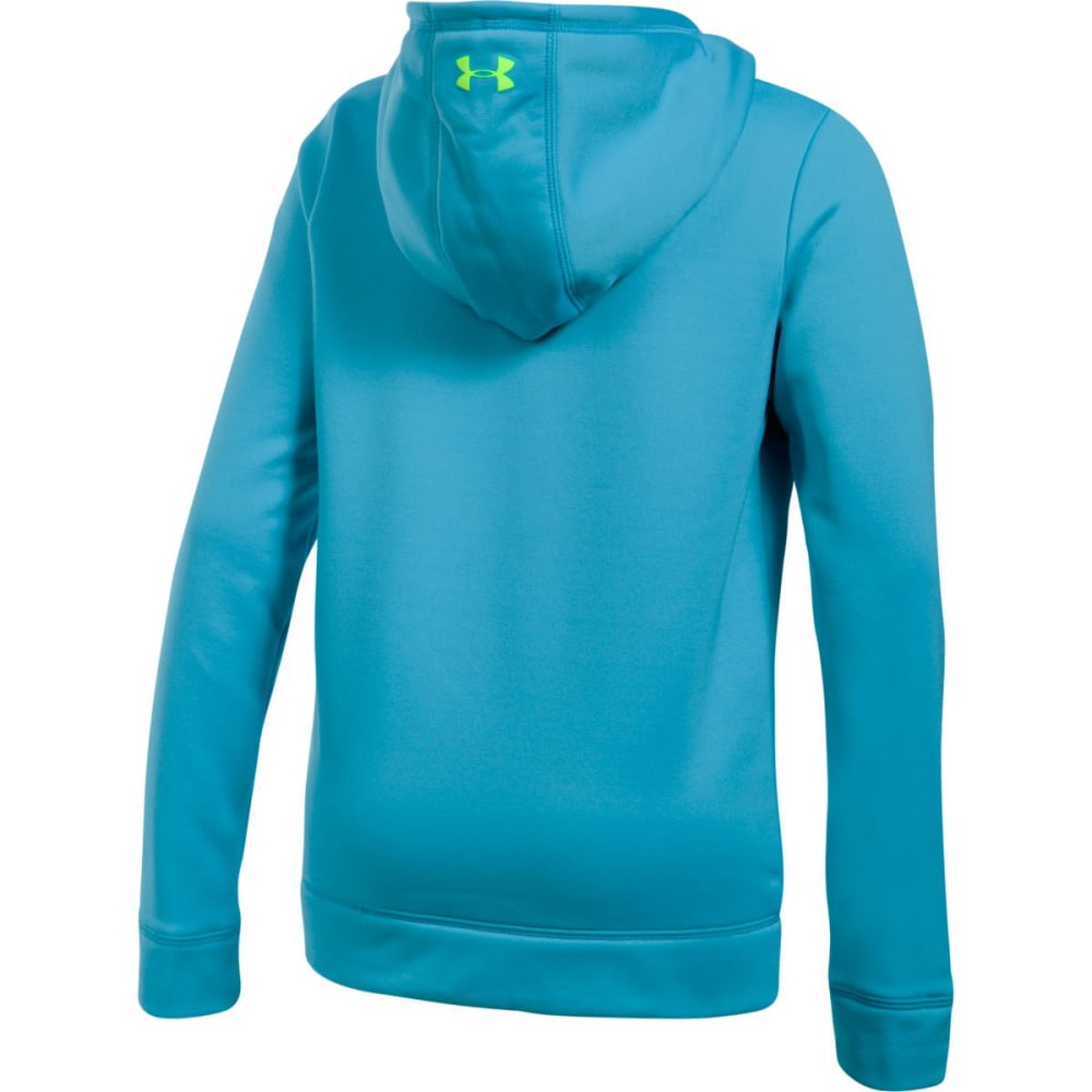 UNDER ARMOUR Girls' Armour Fleece Big Logo Hoodie - 929-BLUSHIFT/LIME