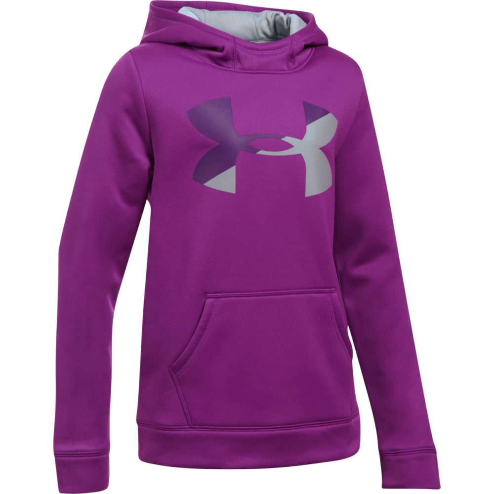 UNDER ARMOUR Girls' Armour Fleece Big Logo Hoodie - 959--PURPRAVE/IND/OV