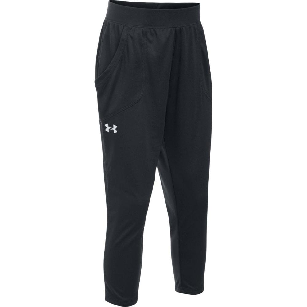 UNDER ARMOUR Girls' UA Tech Capri Pants - 001-BLACK/BLK/WHITE