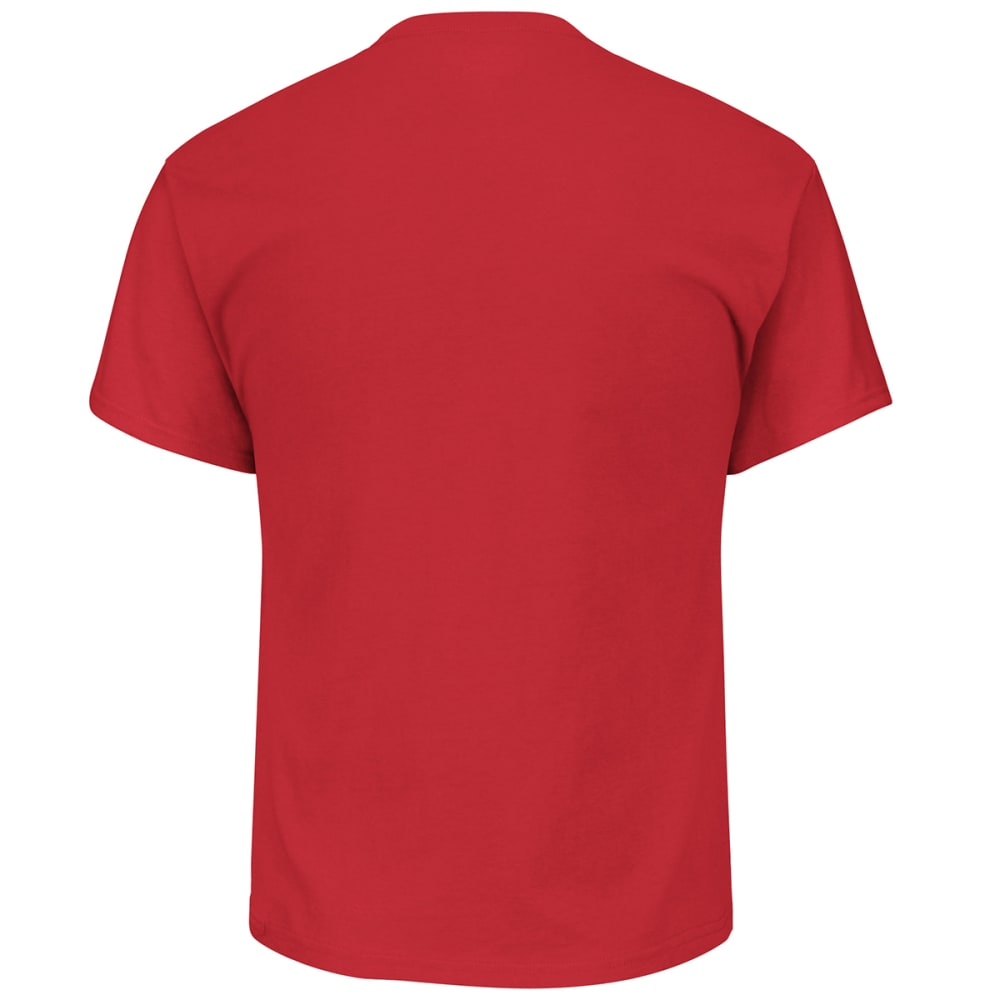 NEW ENGLAND PATRIOTS Men's Maximized Short-Sleeve Tee - RED