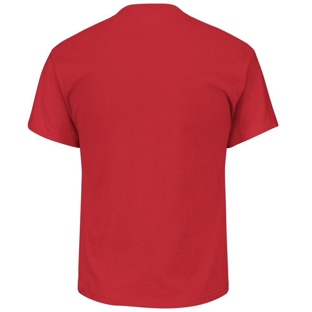 NEW ENGLAND PATRIOTS Men's Maximized Short-Sleeve Tee - RED
