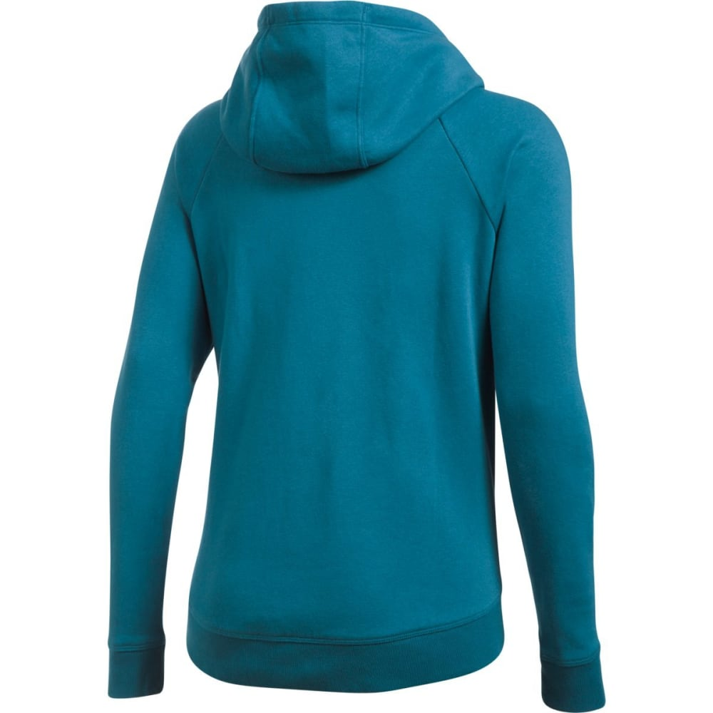 UNDER ARMOUR Women's UA Fashion Favorite Exploded Logo Pullover Hoodie - BAYOU BLUE-953