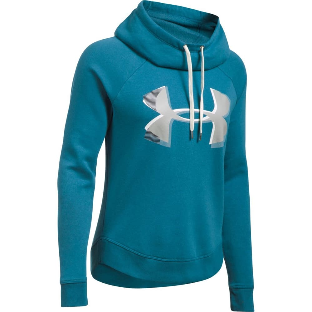 UNDER ARMOUR Women's UA Fashion Favorite Exploded Logo Pullover Hoodie S
