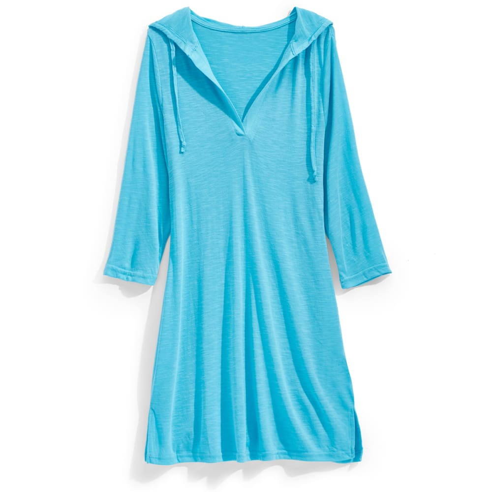 MARIKA Women's ¾  Sleeve Slub Cover-Up - 109 - TRUE TURQ