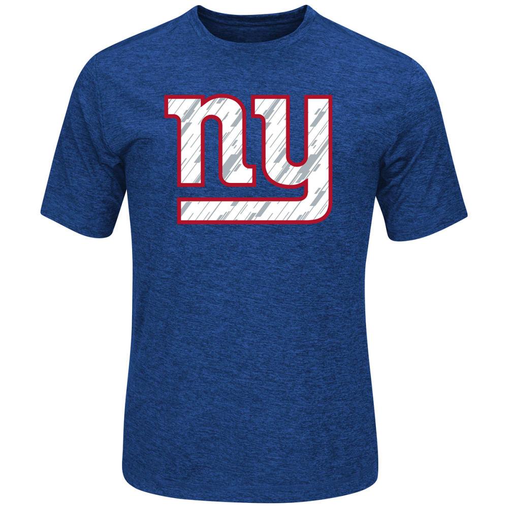 NEW YORK GIANTS Men's Pro Grade Poly Short-Sleeve Tee - ROYAL BLUE