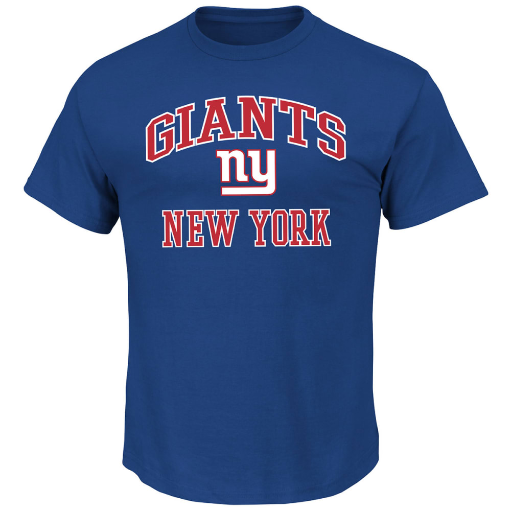 NEW YORK GIANTS Men's Heart and Soul III Short-Sleeve Tee - ROYAL BLUE