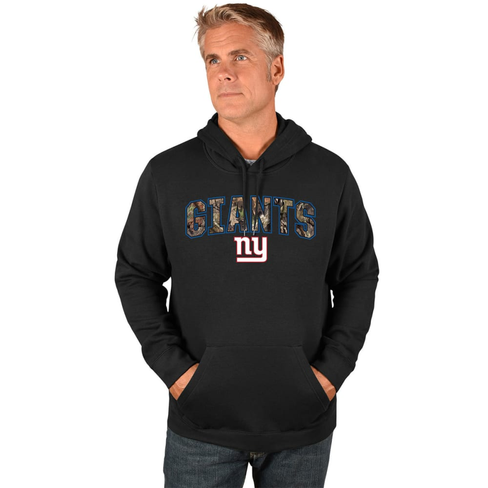 NEW YORK GIANTS Men's Heritage Camo Pullover Hoodie - BLACK