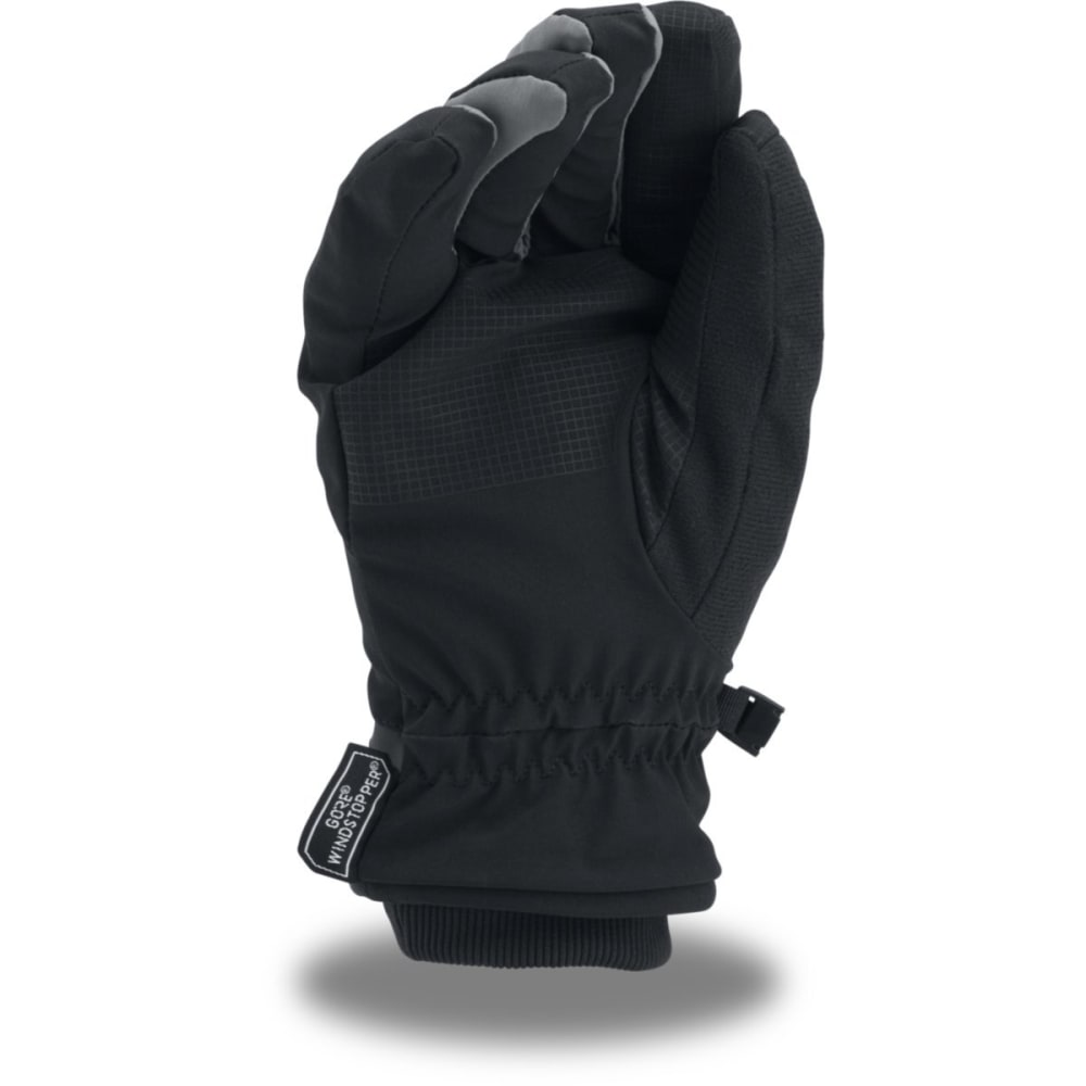 UNDER ARMOUR Men's UA Windstopper 2.0 Gloves - 001-BLK/GRAPHITE/GRA