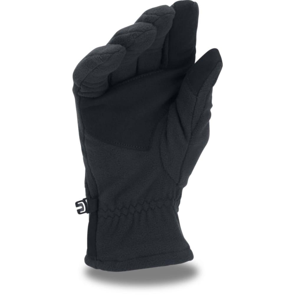 UNDER ARMOUR Men's ColdGear Infrared Fleece 2.0 Gloves - 002-BLK/BLK/GRAPHITE