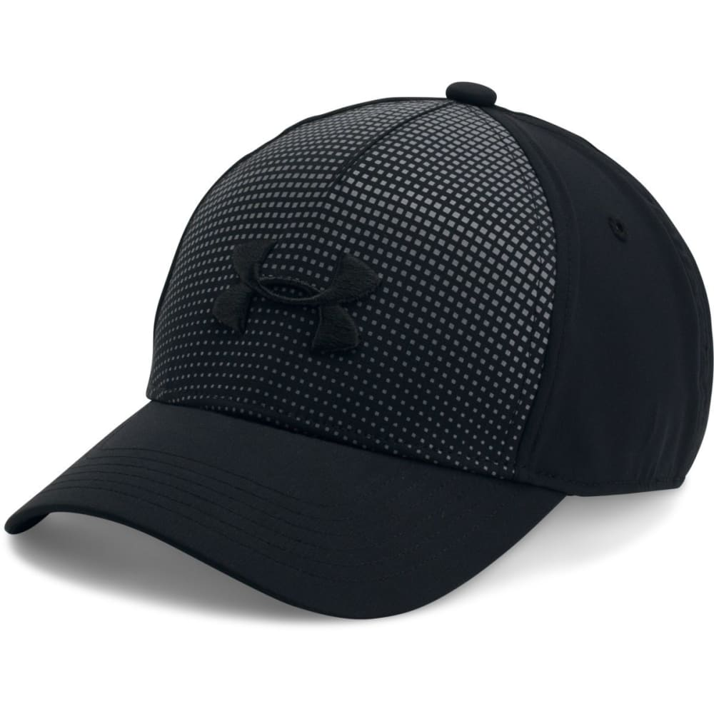 UNDER ARMOUR Boys' Fade Curved Visor Stretch Cap - 001-BLACK