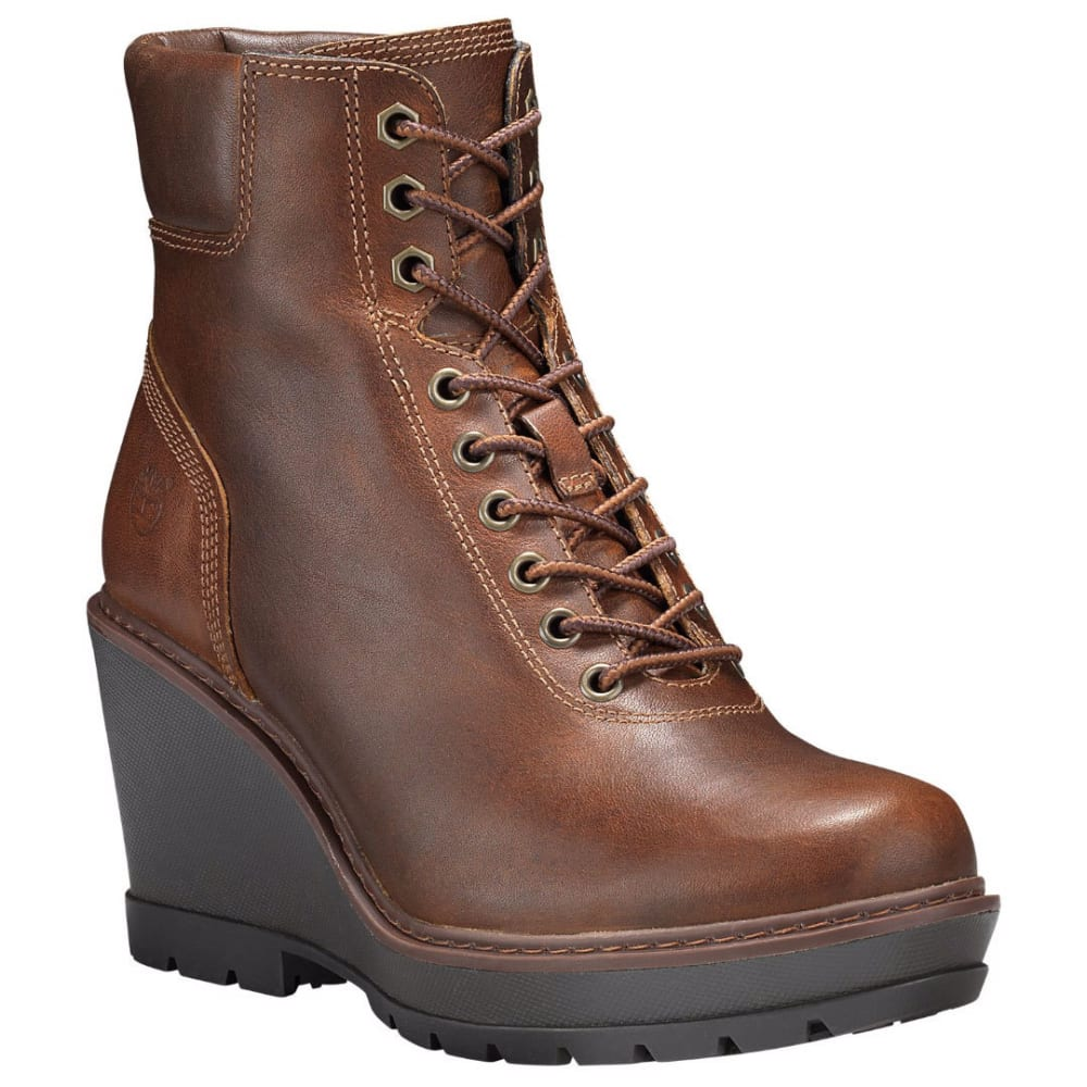TIMBERLAND Women's Kellis Wedge Ankle Boots, Brown - MED BROWN