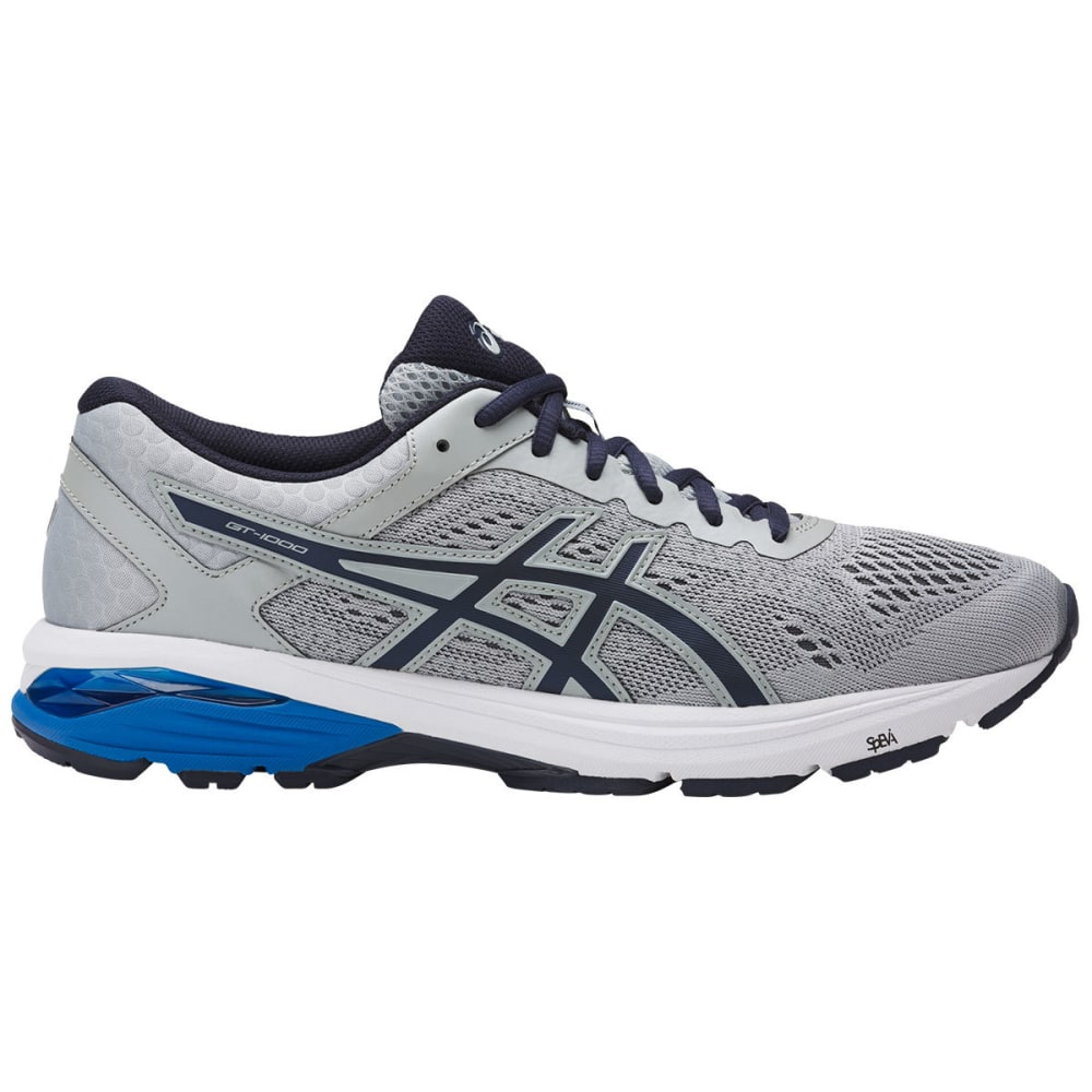 ASICS Men's GT-1000 6 Running Shoes, Grey/Silver/Royal - GREY