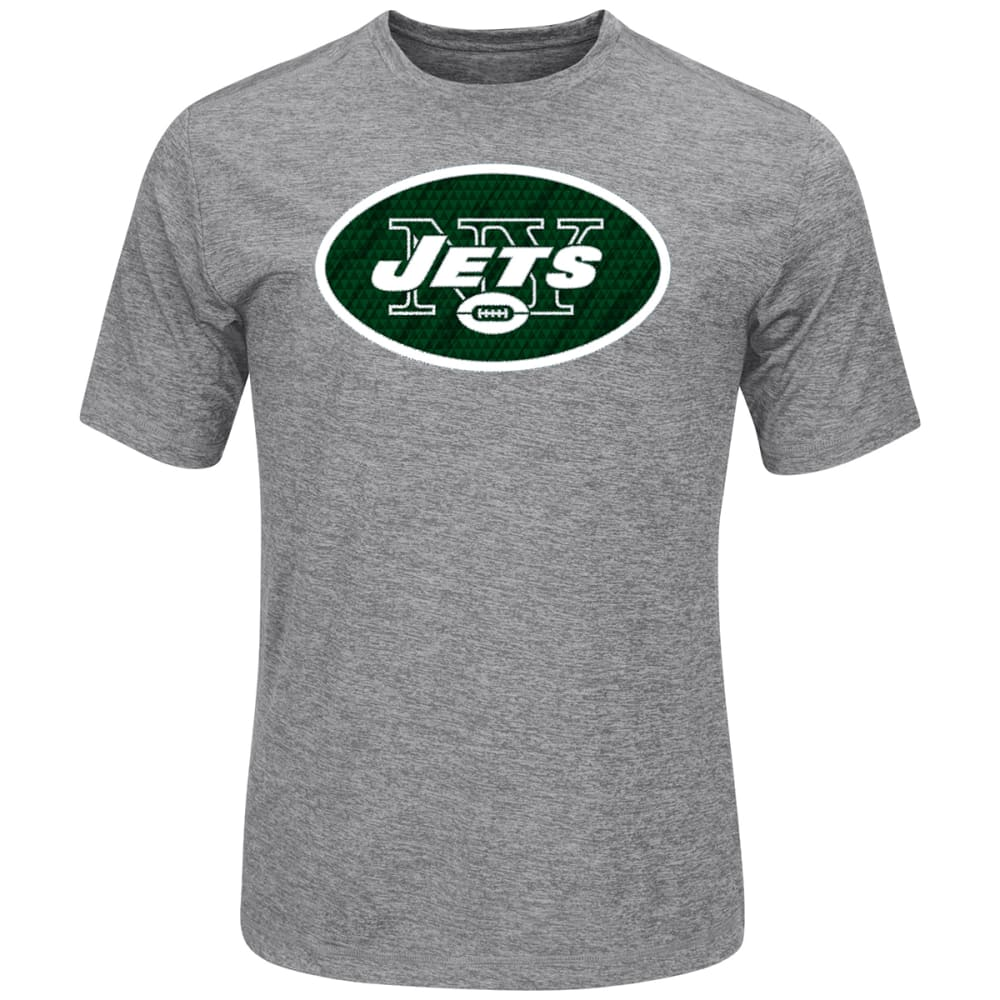 NEW YORK JETS Men's Logo Tech Poly Short-Sleeve Tee - GREY