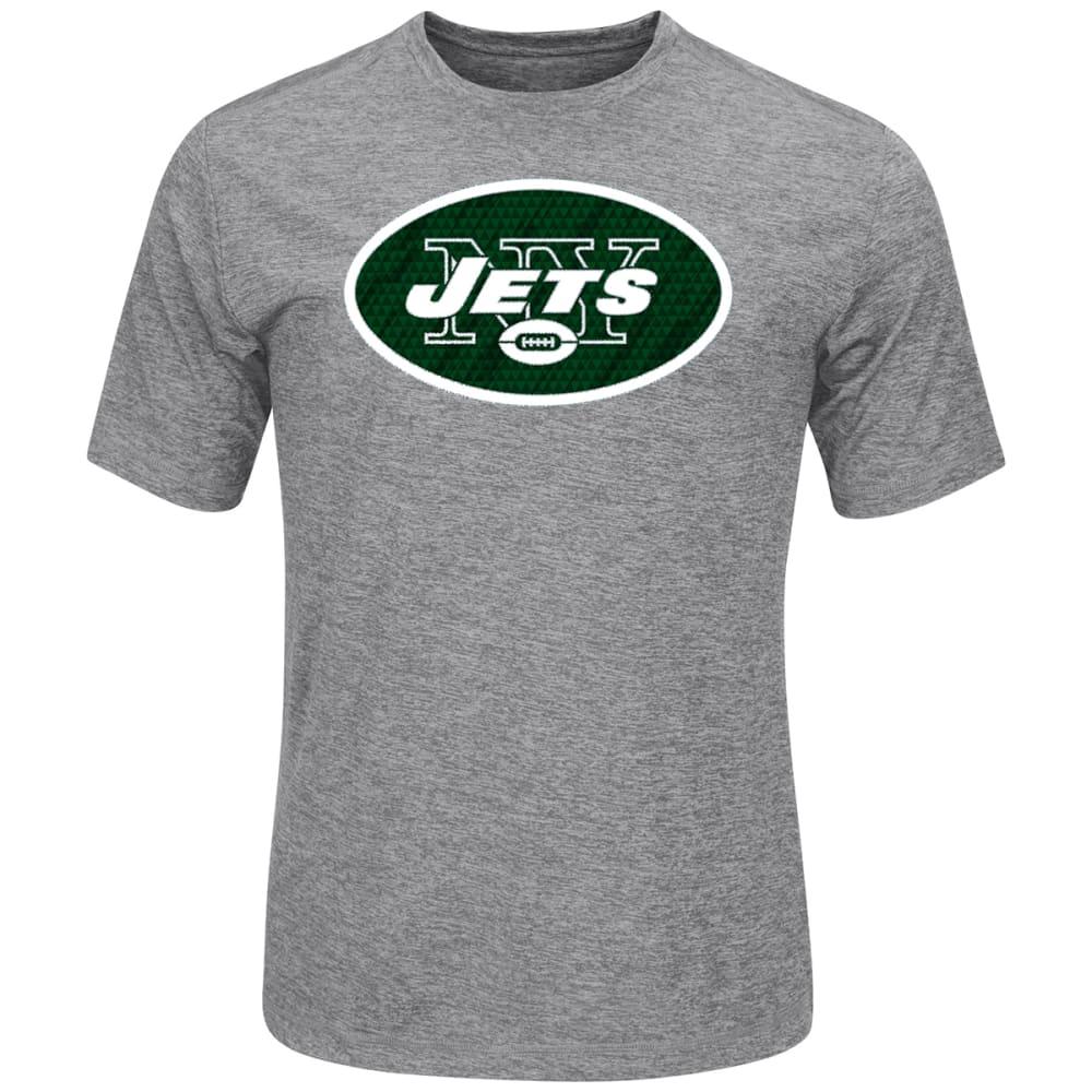 NEW YORK JETS Men's Logo Tech Poly Short-Sleeve Tee - GREY