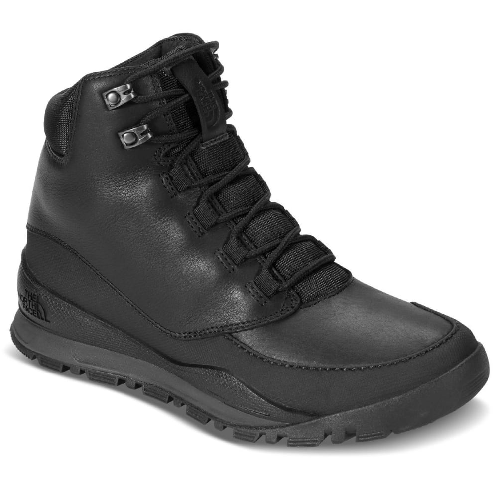 THE NORTH FACE Men's 7 in. Edgewood Waterproof Mid Boots, Black/Grey - BLACK
