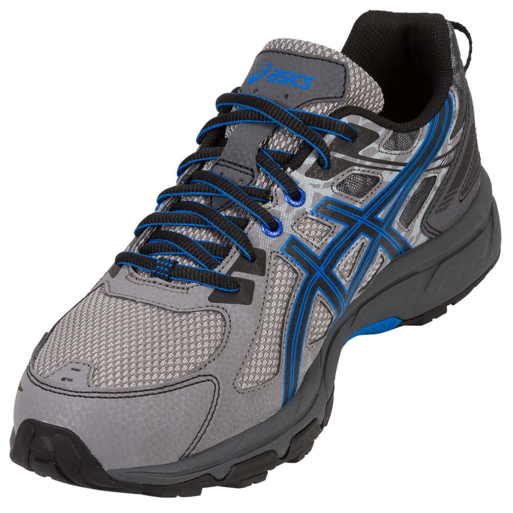 ASICS Men's GEL-Venture 6 Running Shoes, Aluminum/Black/Blue - ALUMINUM