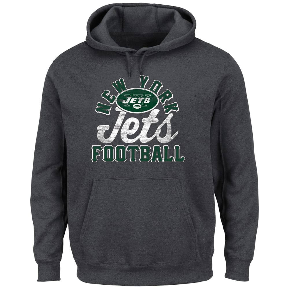 NEW YORK JETS Men's Kick Return Pullover Hoodie - CHARCOAL