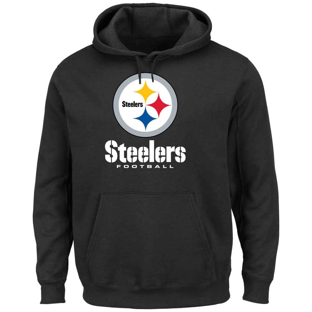 PITTSBURGH STEELERS Men's Critical Victory Pullover Hoodie - BLACK