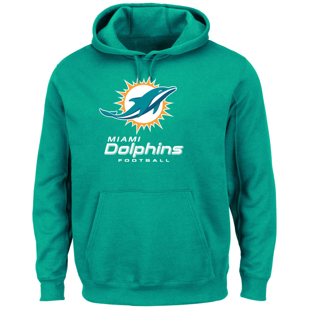 MIAMI DOLPHINS Men's Critical Victory Pullover Hoodie - AQUA