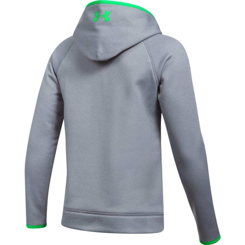 UNDER ARMOUR Boys' Armour Fleece Big Logo Hoodie - 035-STEEL/LIMETWIST
