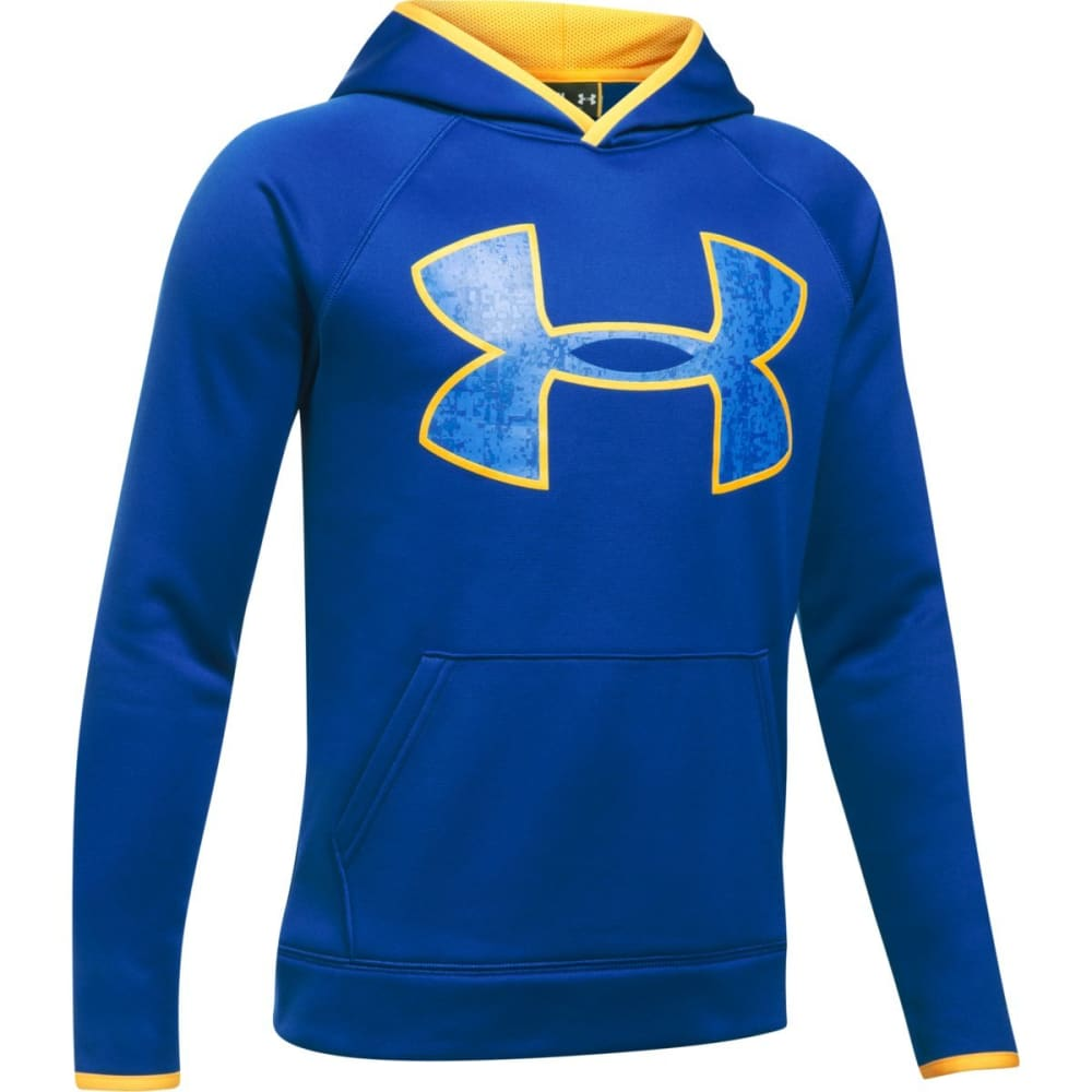 UNDER ARMOUR Boys' Armour Fleece Big Logo Hoodie - 400-ROYAL/TAXI