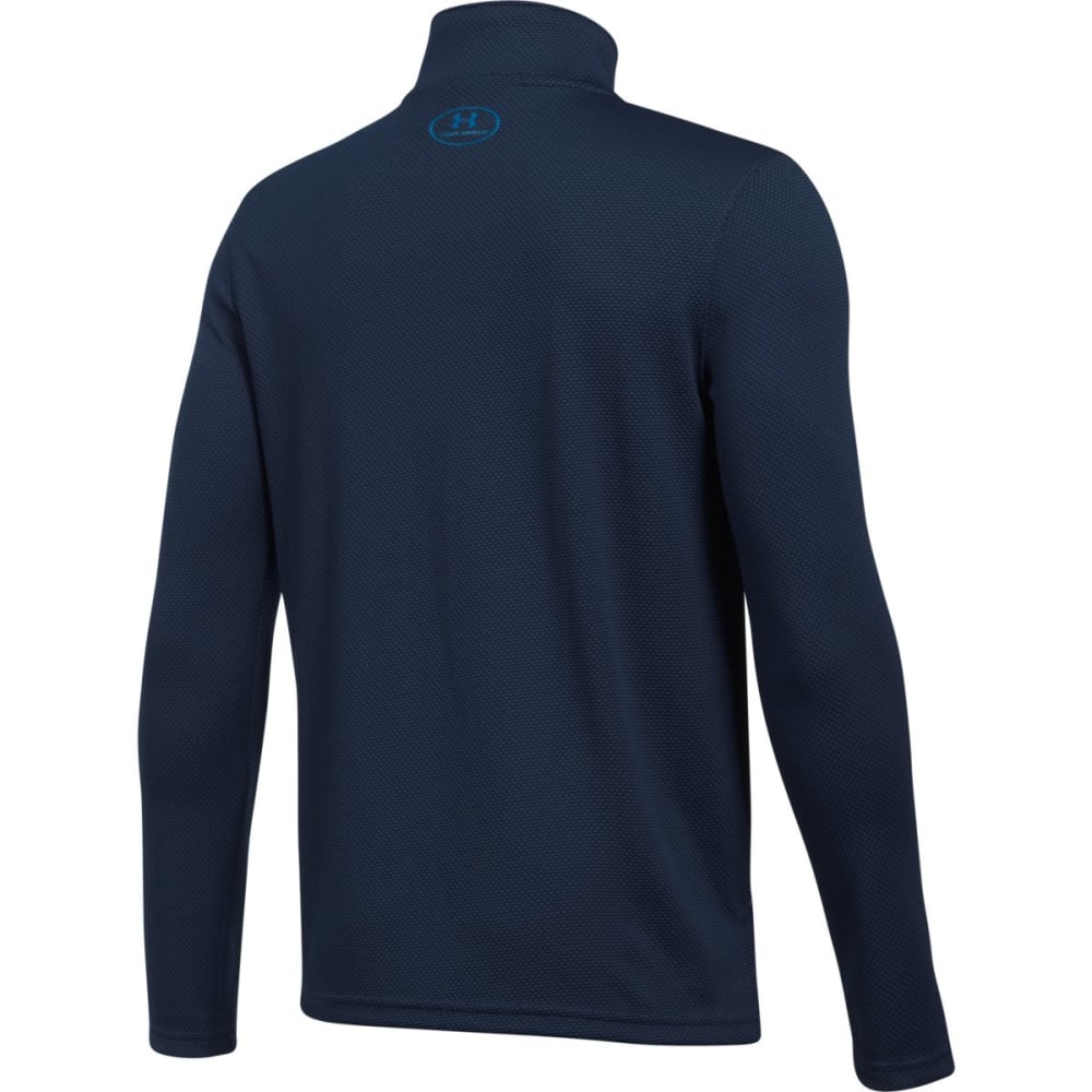 UNDER ARMOUR Big Boys' UA Tech Textured ¼-Zip Pullover - 410-MIDNTNVY/CRUISEB