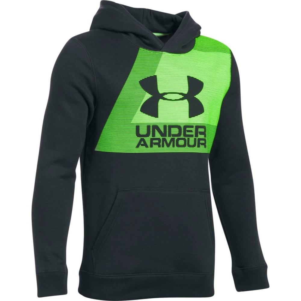 Under Armour Big Boys' Rival Fleece Hoodie - Black, S