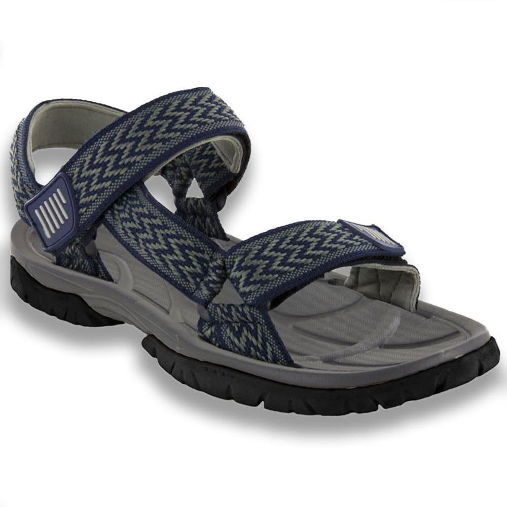NORTHSIDE Men's Seaview Sandals, Navy/Grey - NAVY/ GREY