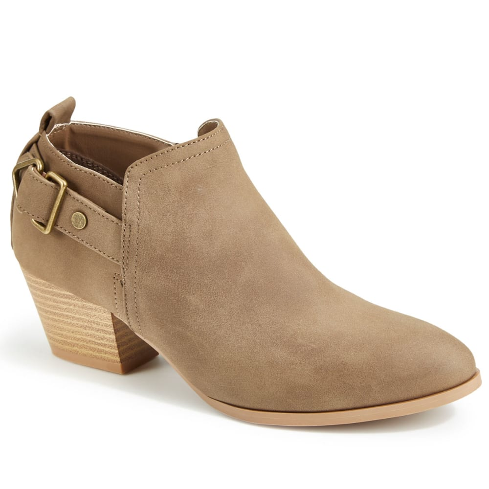 QUPID Women's Travis-01 Ankle Booties - DARK TAUPE