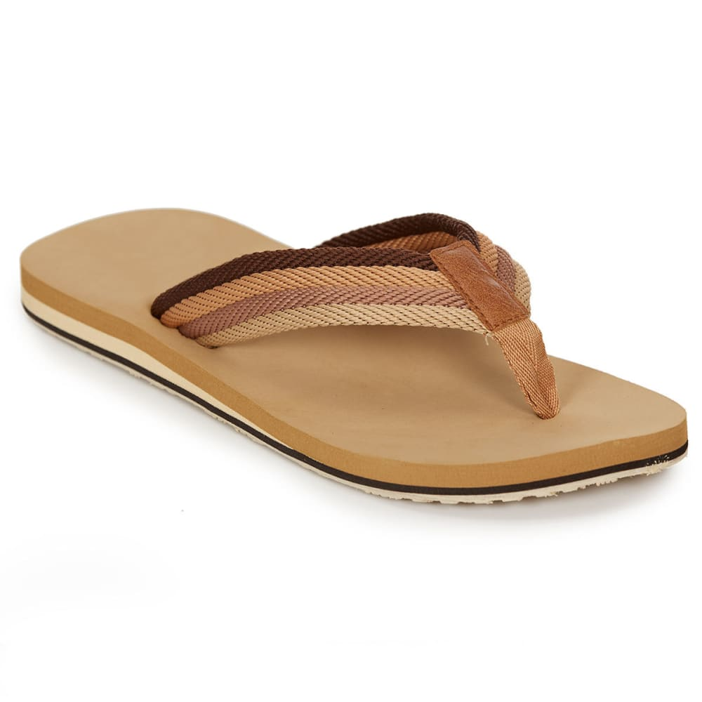 HANG TEN Men's Capitola Flip Flops, Tan - TAN