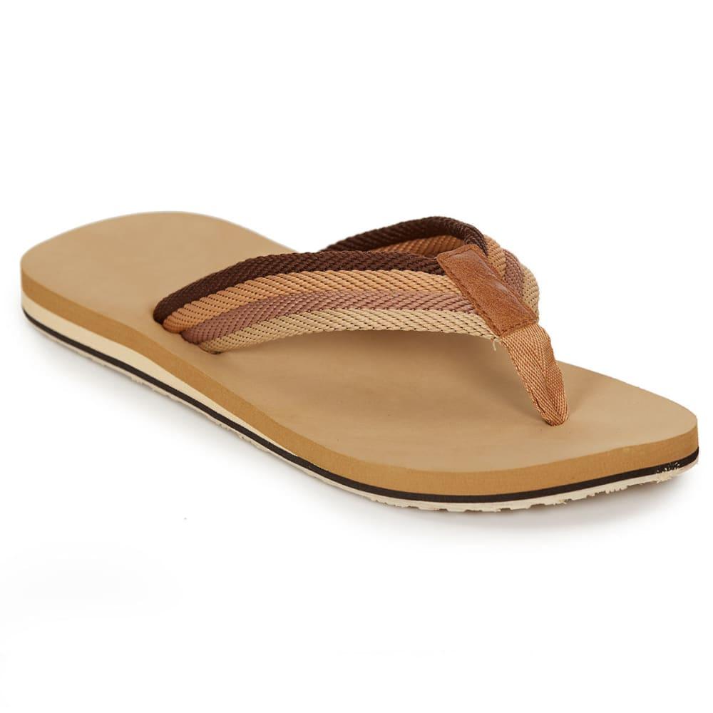 HANG TEN Men's Capitola Flip Flops, Tan - TAN