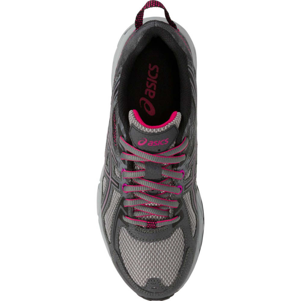 ASICS Women's GEL-Venture 6 Running Shoes, Carbon/Black/Pink Peacock - CARBON
