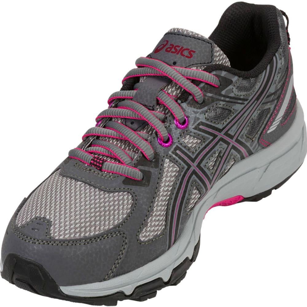 ASICS Women's GEL-Venture 6 Running Shoes, Carbon/Black/Pink Peacock, Wide - CARBON
