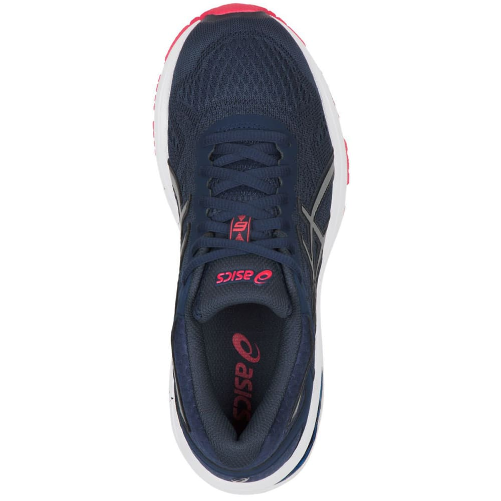 ASICS Women's GT-1000 6 Running Shoes, Insignia Blue/Silver/Rouge Red - INSIGNIA BLUE