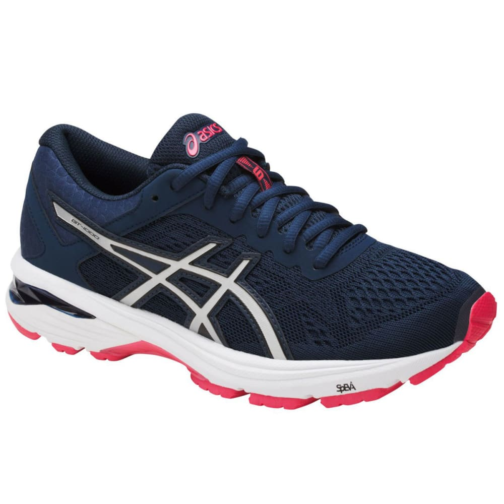 Asics Women's Gt-1000 6 Running Shoes, Insignia Blue/silver/rouge Red
