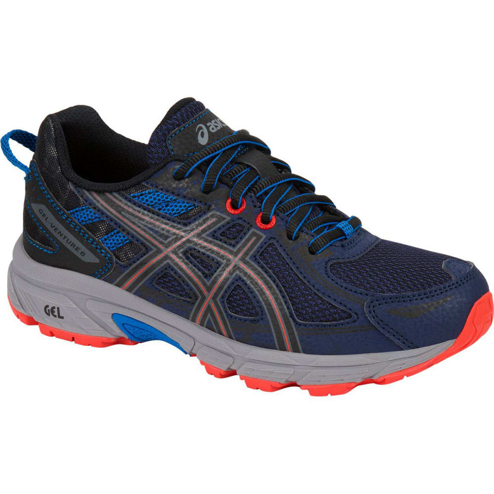 Asics Boys Gel-Venture 6 Gs Running Shoes, Indigo Blue/black/electric Blue
